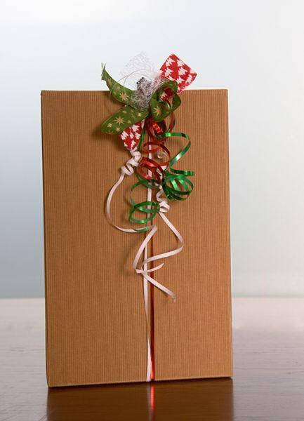 """Geschenkkarton """"elegant"""" braun"""