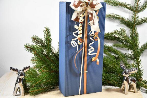 Geschenkkarton dunkelblau / Weihnachten
